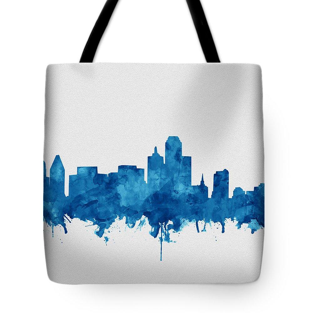 6fa53955f Dallas Skyline Blue Tote Bag for Sale by Bekim M