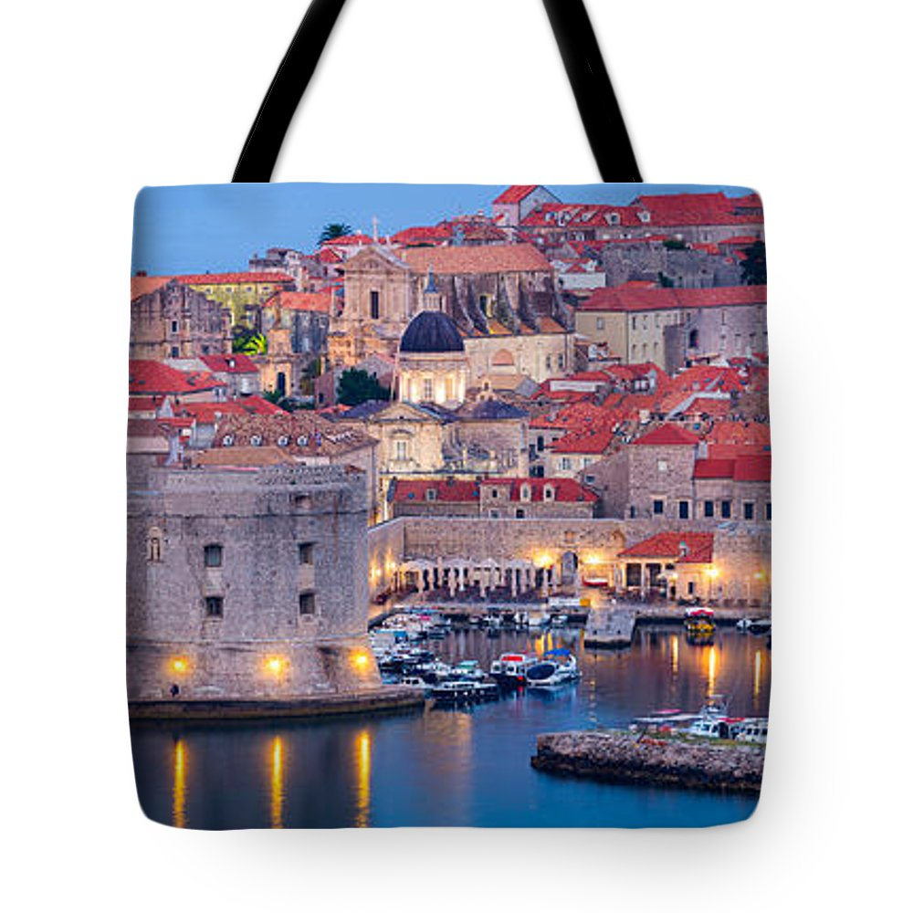 Adriatic Tote Bag featuring the photograph Dalmatian Dawn by Inge Johnsson