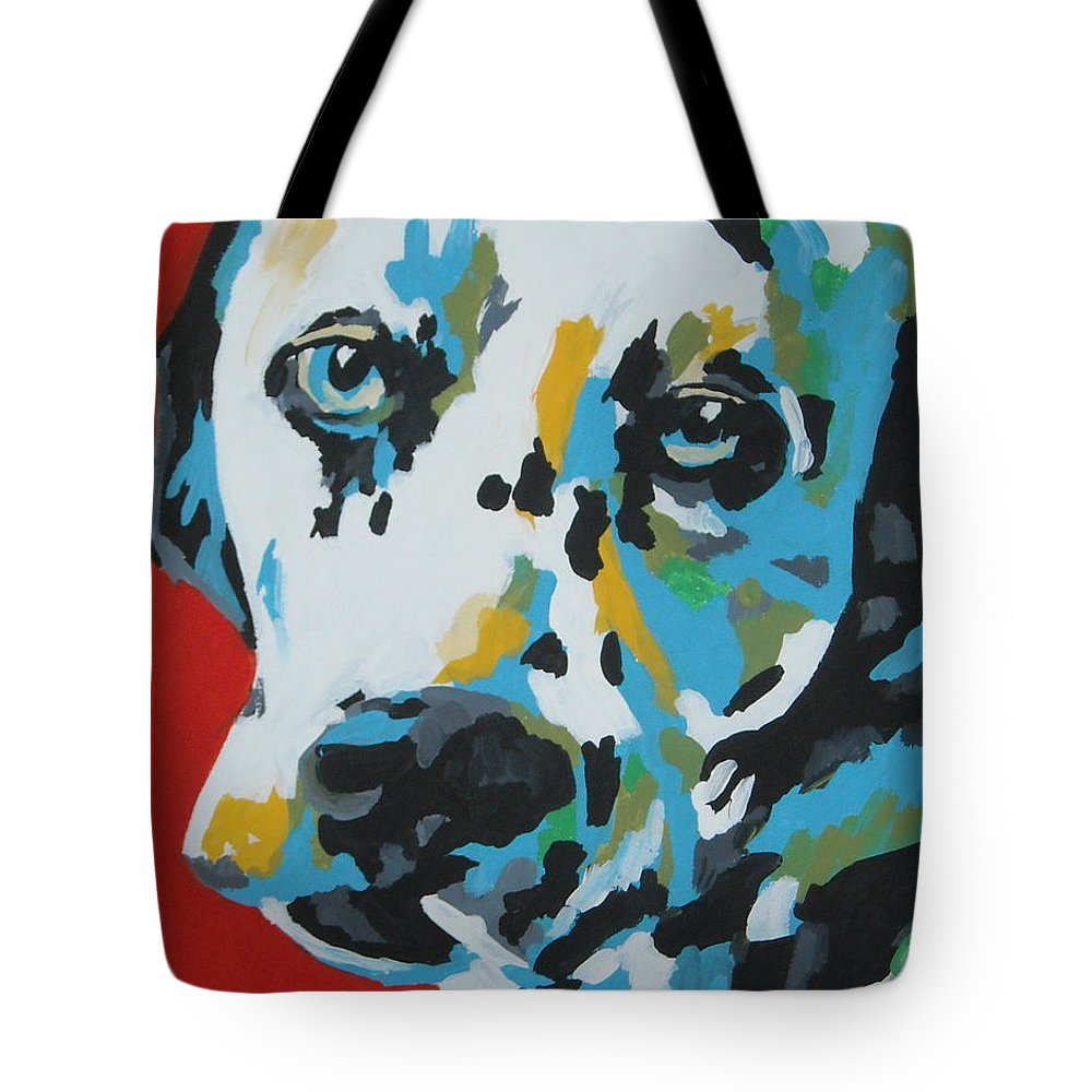 Dalmation Tote Bag featuring the painting Dalmation by Caroline Davis
