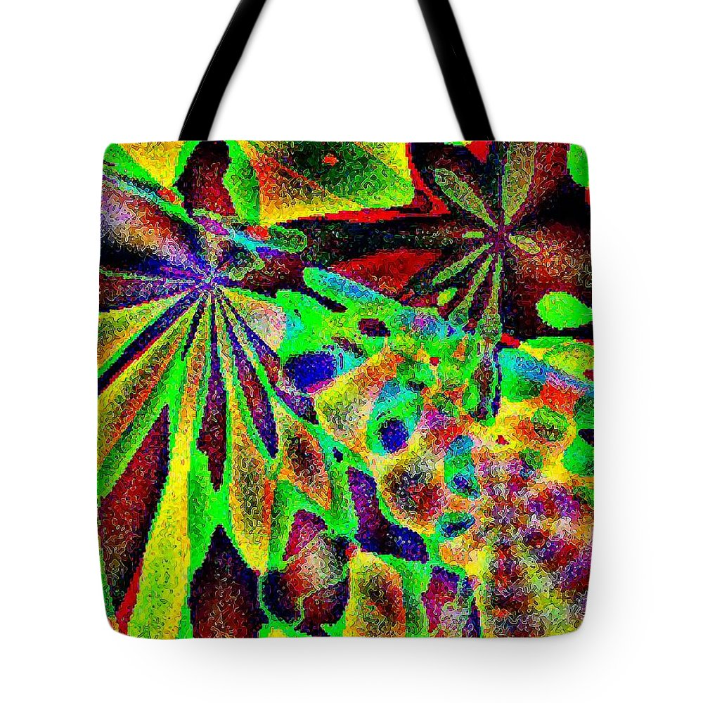 Computer Art Tote Bag featuring the digital art Damselwing by Dave Martsolf