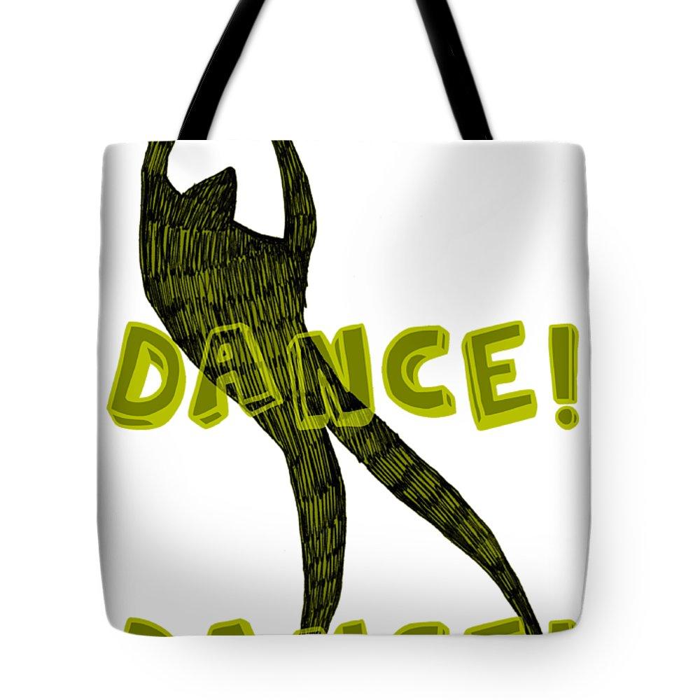 Text Tote Bag featuring the digital art Dance Dance Dance by Michelle Calkins