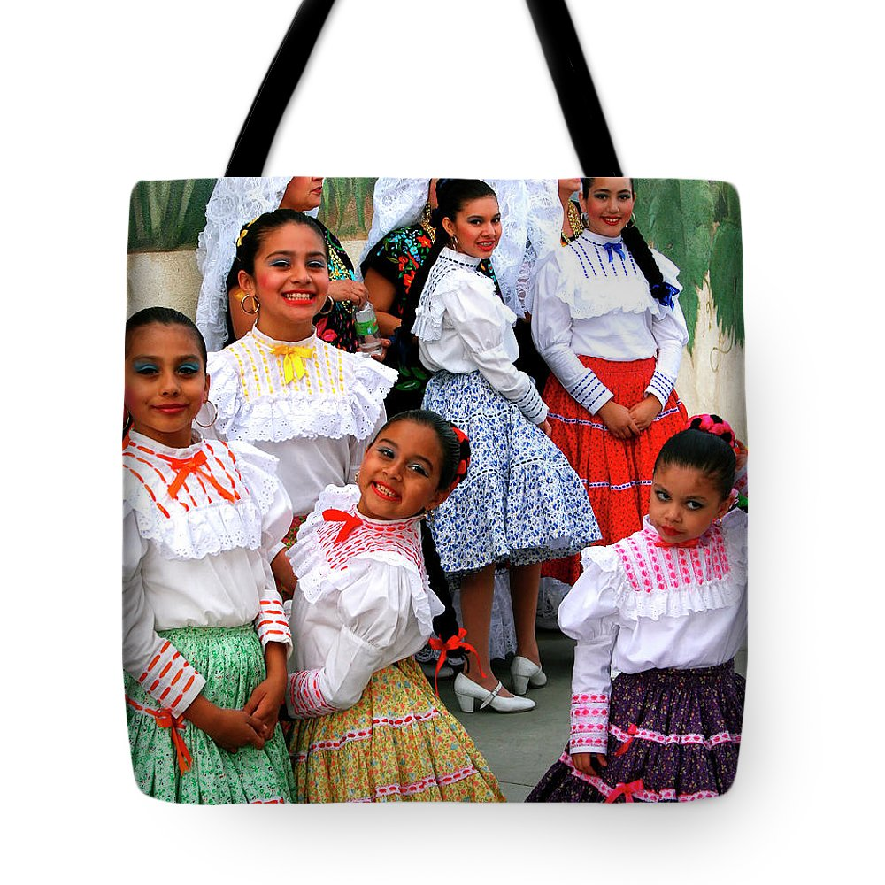 Tamale Festival Tote Bag featuring the photograph Dance Girls Dance Palm Springs by William Dey
