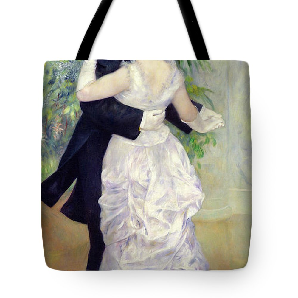 Dance Tote Bag featuring the painting Dance In The City by Pierre Auguste Renoir