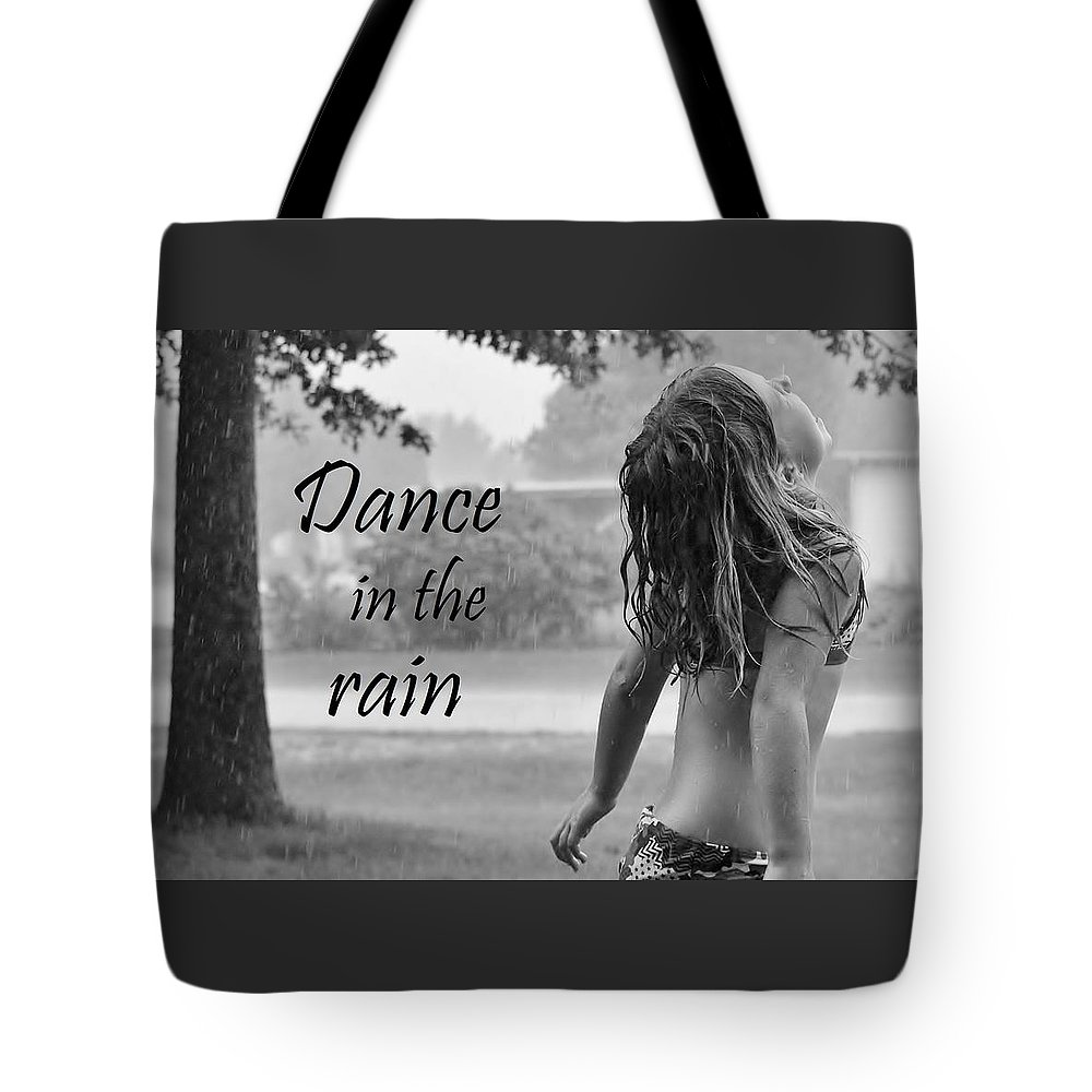 Rain Tote Bag featuring the photograph Dance In The Rain by Denise Irving