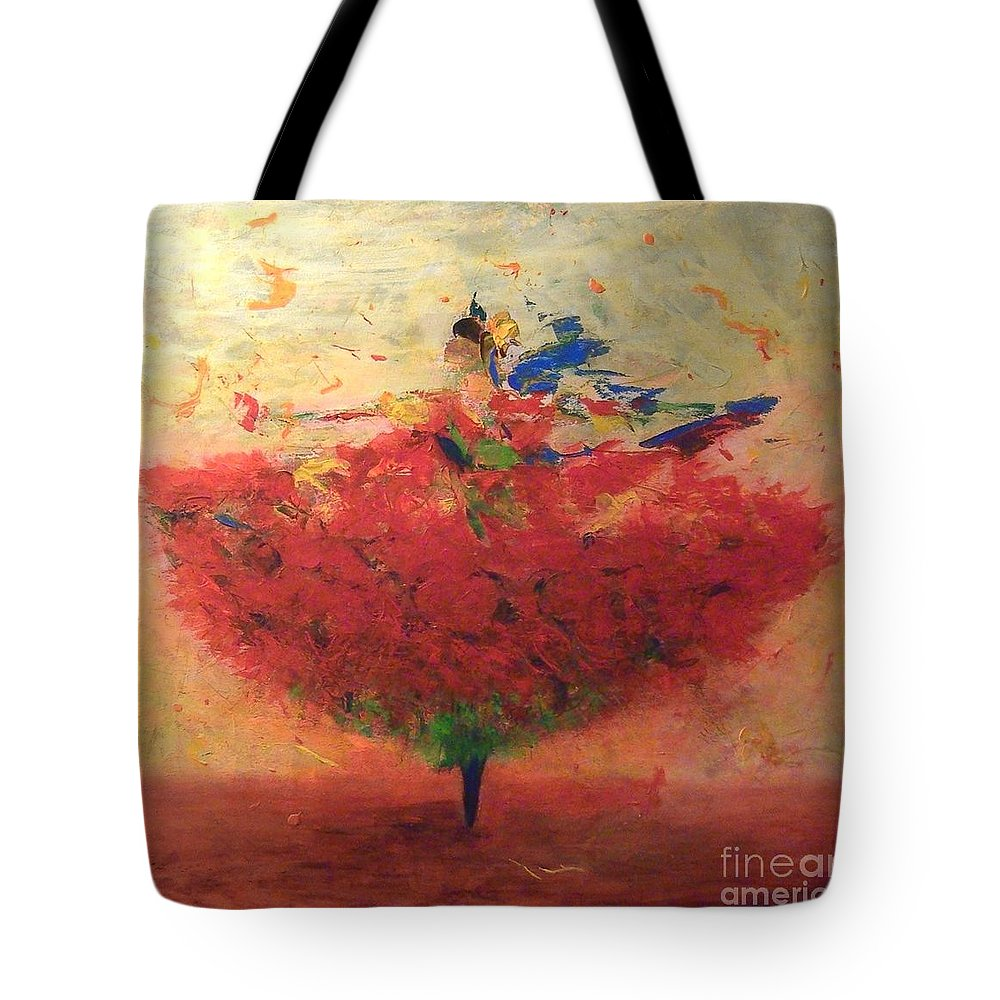 Dance Tote Bag featuring the painting Dance Of Happiness by Agneta Holmqvist