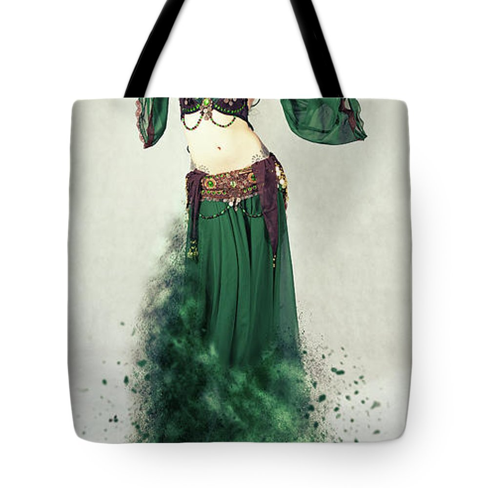 Dancer Tote Bag featuring the photograph Dance Of The Belly by Smart Aviation