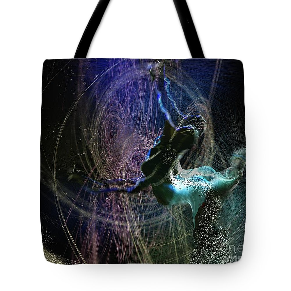 Nature Painting Tote Bag featuring the painting Dance Of The Universe by Miki De Goodaboom