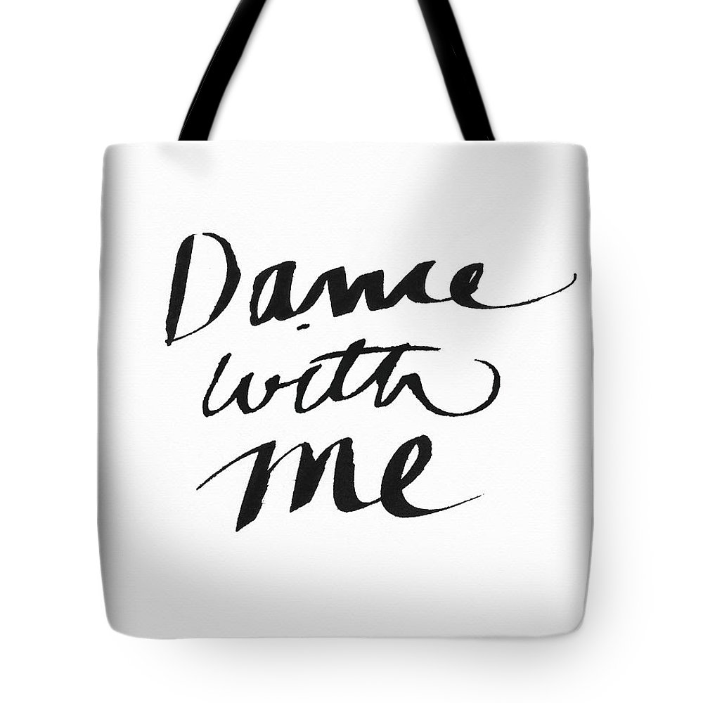 Dance Tote Bag featuring the painting Dance With Me- Art By Linda Woods by Linda Woods