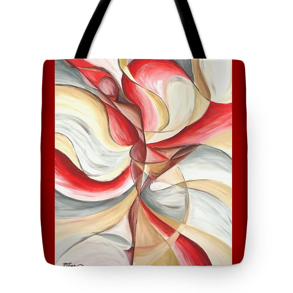 Figure Tote Bag featuring the painting Dancer II by Rowena Finn