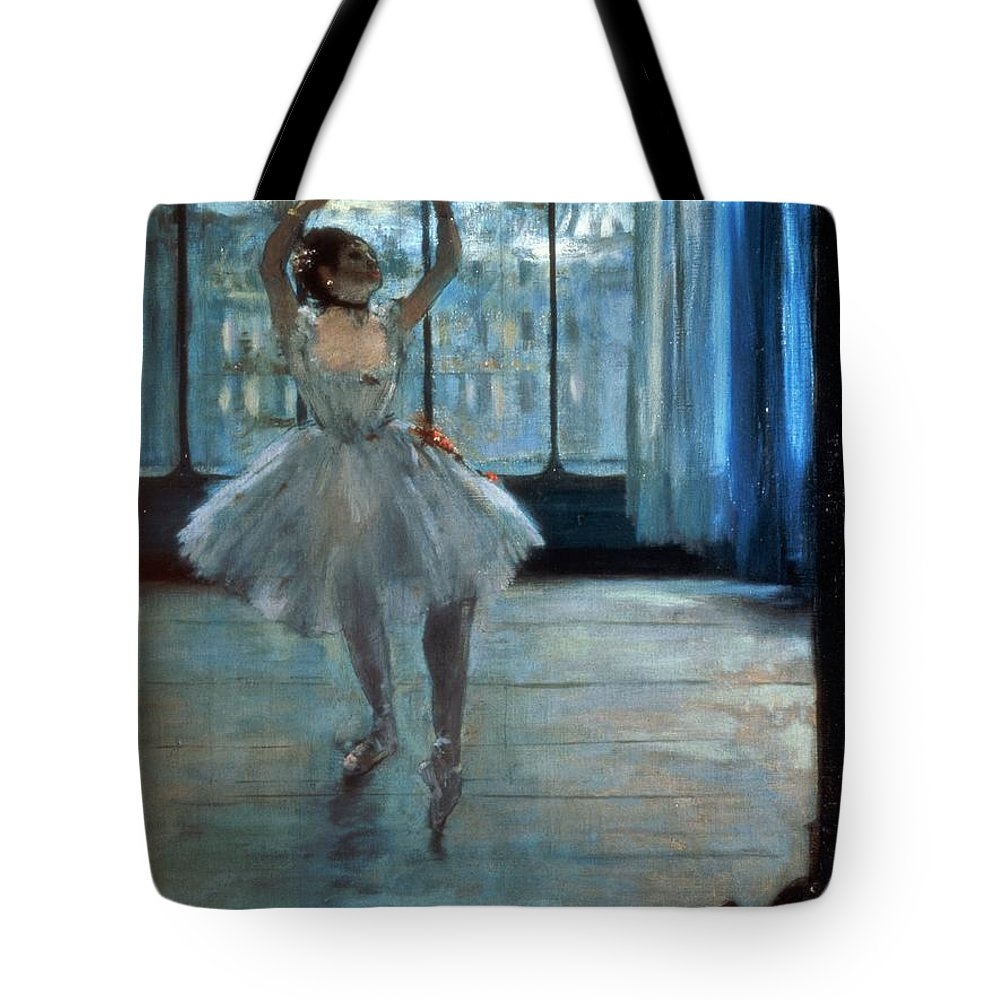 Dancer Tote Bag featuring the painting Dancer In Front Of A Window by Edgar Degas