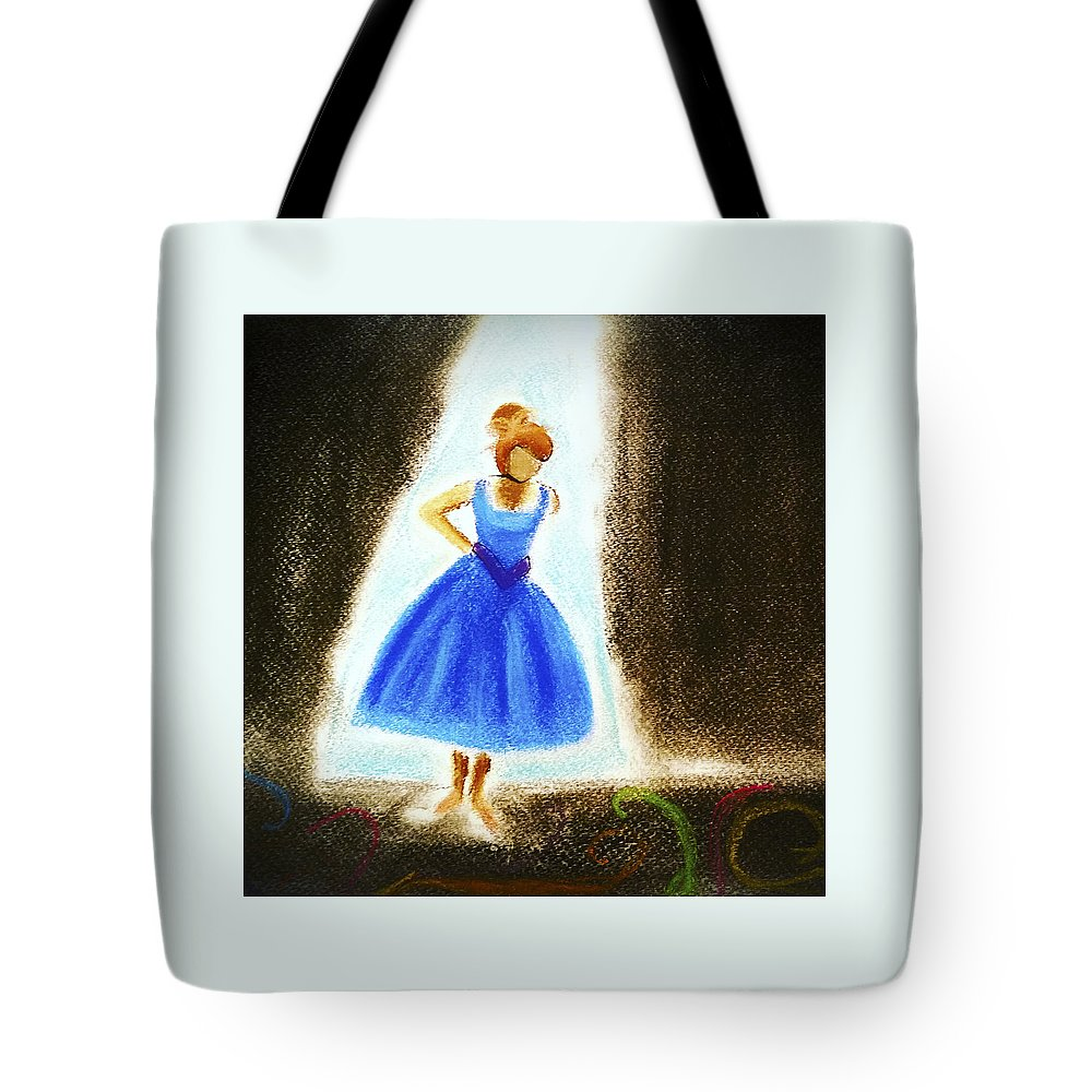Ballet Tote Bag featuring the pastel Dancer by Lucy Lu