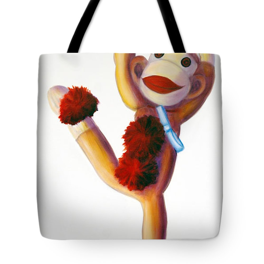 Dancer Tote Bag featuring the painting Dancer Made Of Sockies by Shannon Grissom