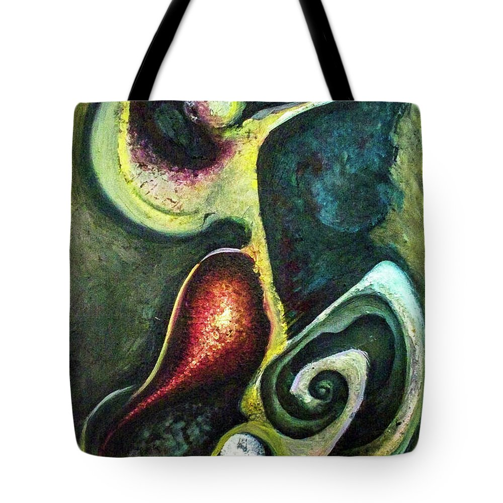 Abstract Tote Bag featuring the painting Dancers by Heather Joi
