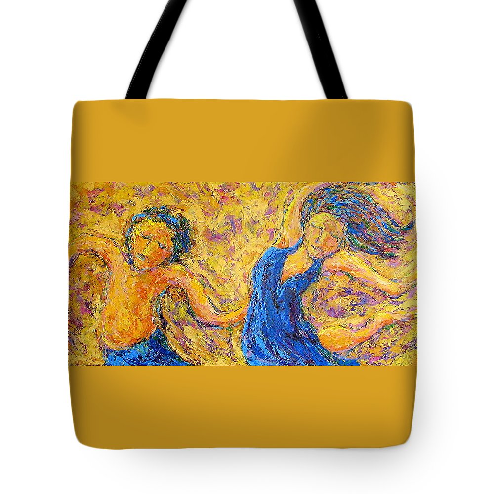 Dance Tote Bag featuring the painting Dancers by Kat Griffin