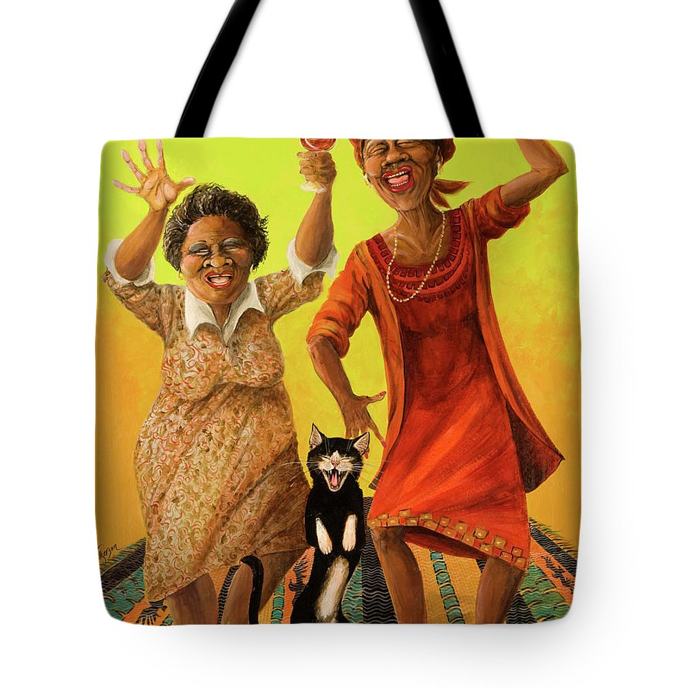 Whimsical Tote Bag featuring the painting Dancin' Cause It's Tuesday by Shelly Wilkerson