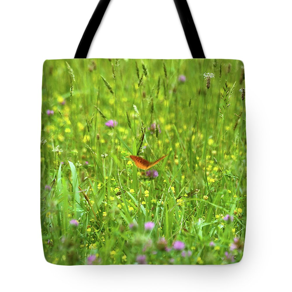 Butterfly Tote Bag featuring the photograph Dancing Among The Flowers by Southern Arts