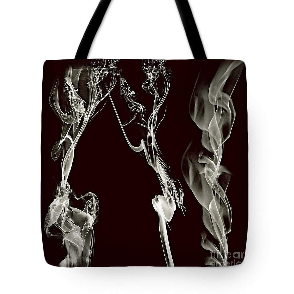 Clay Tote Bag featuring the digital art Dancing Apparitions by Clayton Bruster