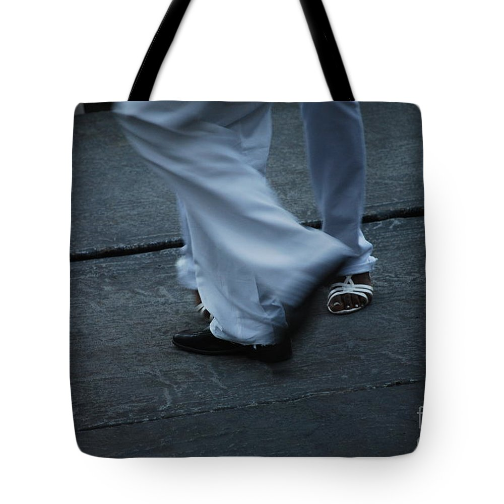 Dancing Tote Bag featuring the photograph Dancing Feet At The Dominican Republic Son Party Number Three by Heather Kirk