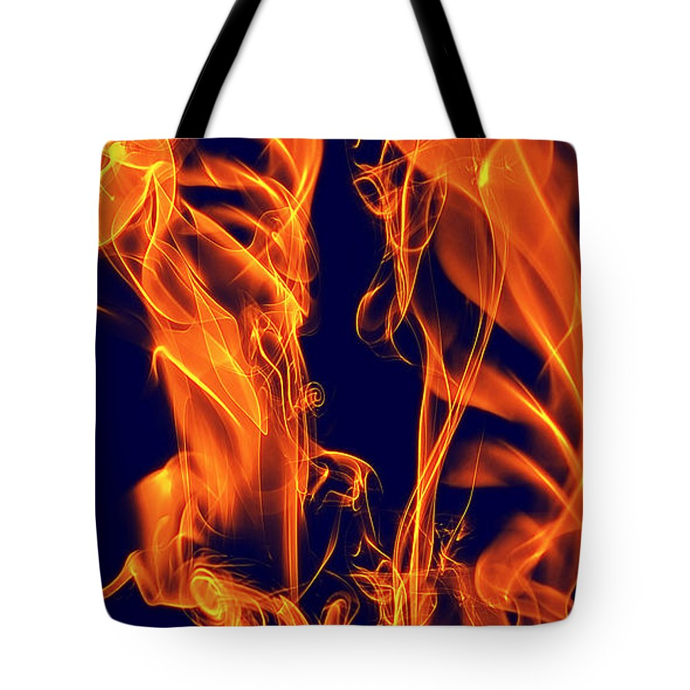Clay Tote Bag featuring the digital art Dancing Fire I by Clayton Bruster