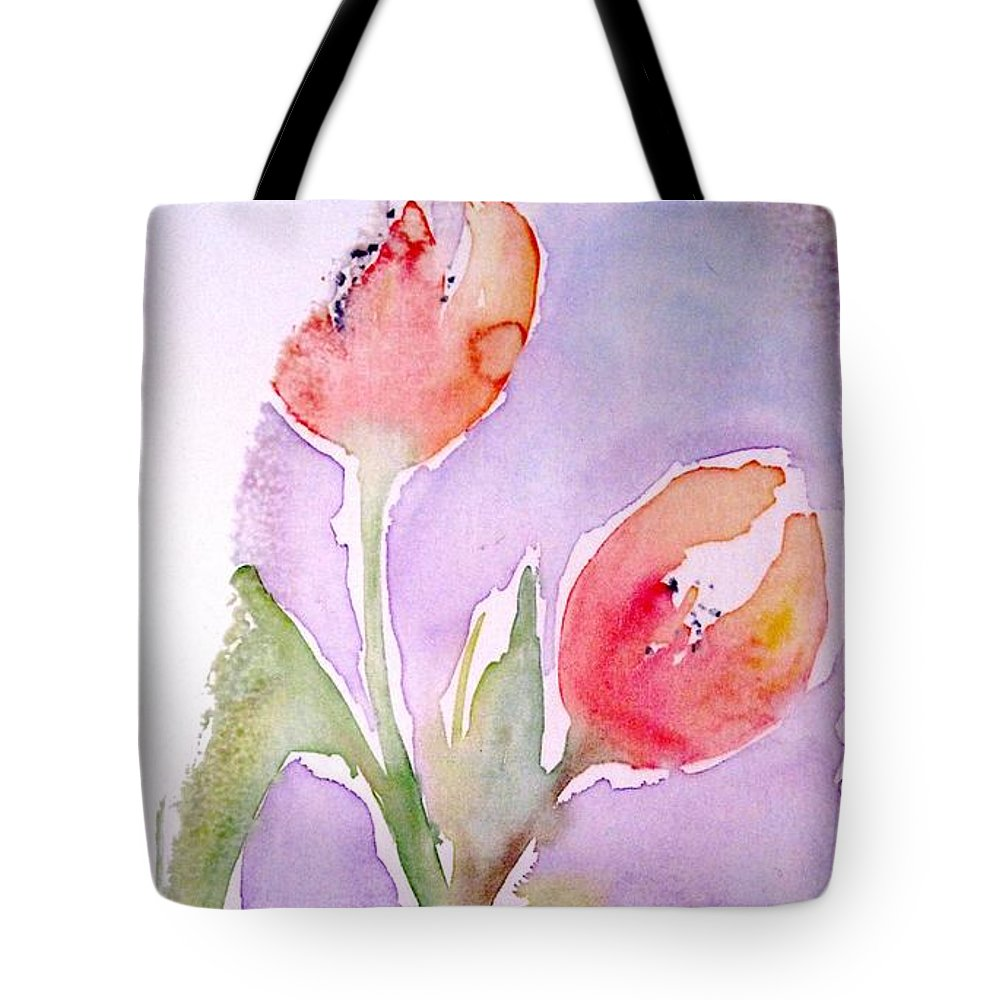 Flowers Tote Bag featuring the painting Dancing Flowers by Tara Tyson