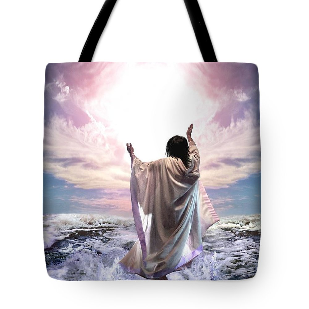 Yeshua Tote Bag featuring the digital art Dancing For My Father by Bill Stephens