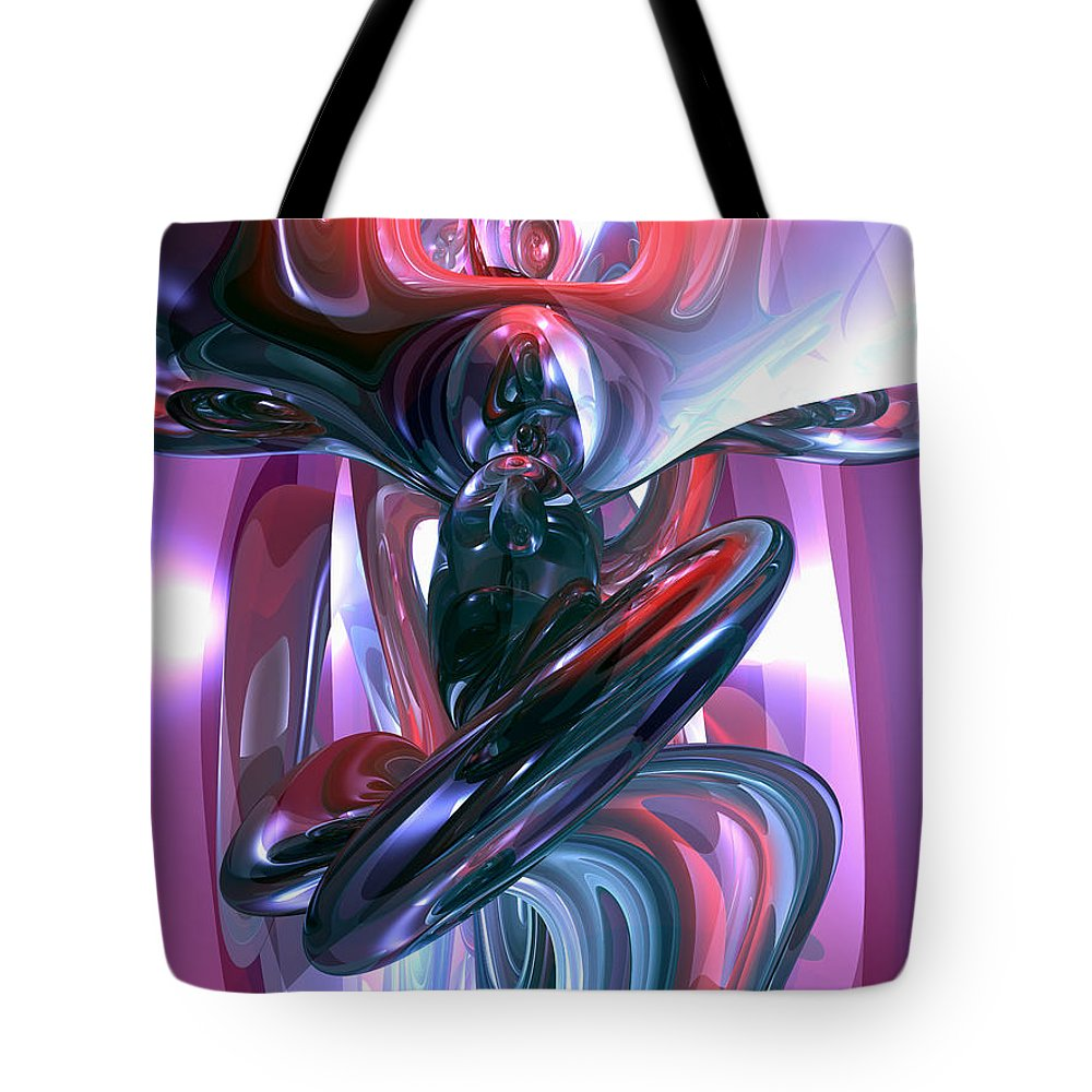 3d Tote Bag featuring the digital art Dancing Hallucination Abstract by Alexander Butler