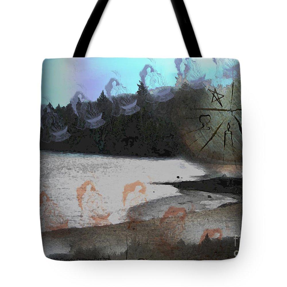 Fantasy Tote Bag featuring the digital art Dancing High by Cyndy DiBeneDitto