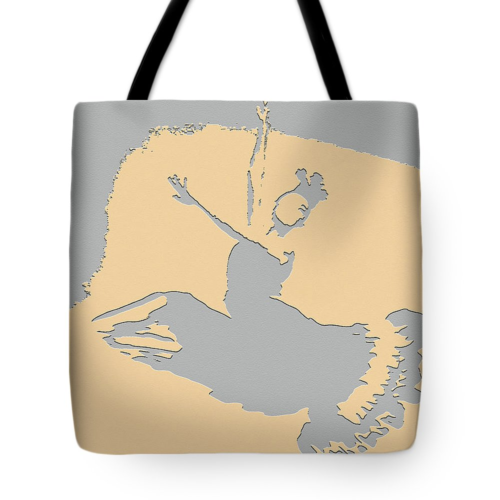 Dance Tote Bag featuring the digital art Dancing In The Moon Light by Art Spectrum