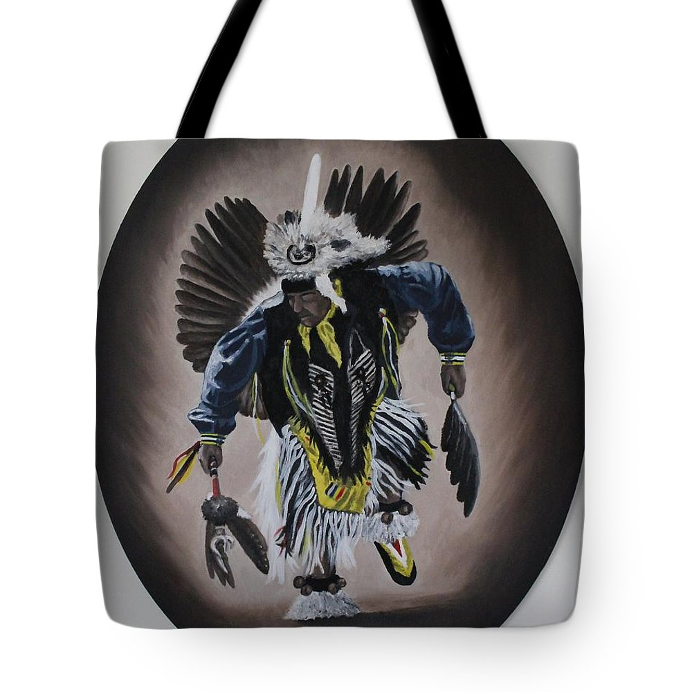 Michael Tote Bag featuring the painting Dancing In The Spirit by Michael TMAD Finney