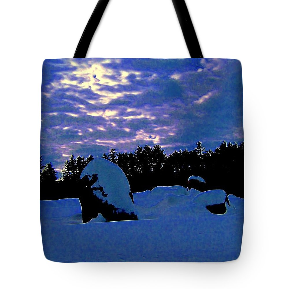 Tote Bag featuring the photograph Dancing Morning Lights by Elizabeth Tillar