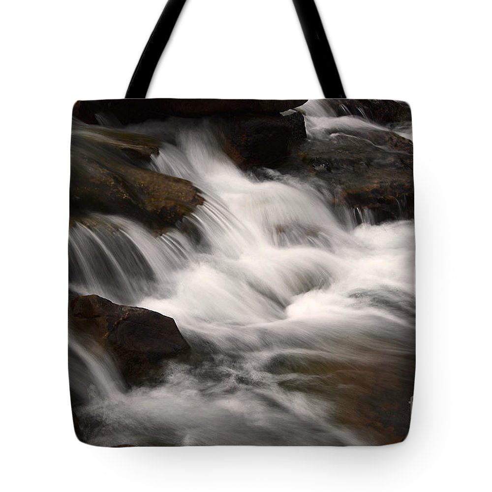 Water Tote Bag featuring the photograph Dancing Waters 4 by Bob Christopher