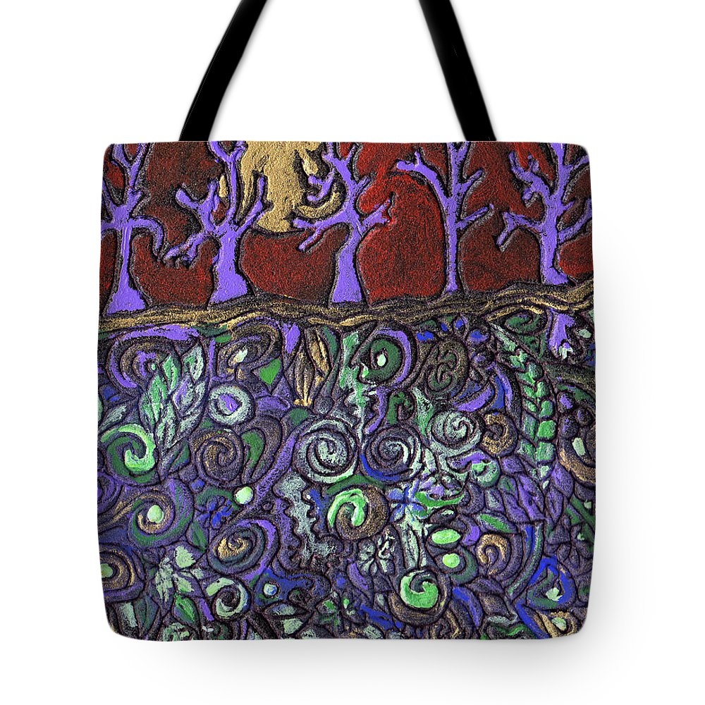 Trees Tote Bag featuring the painting Dancing With The Trees by Wayne Potrafka