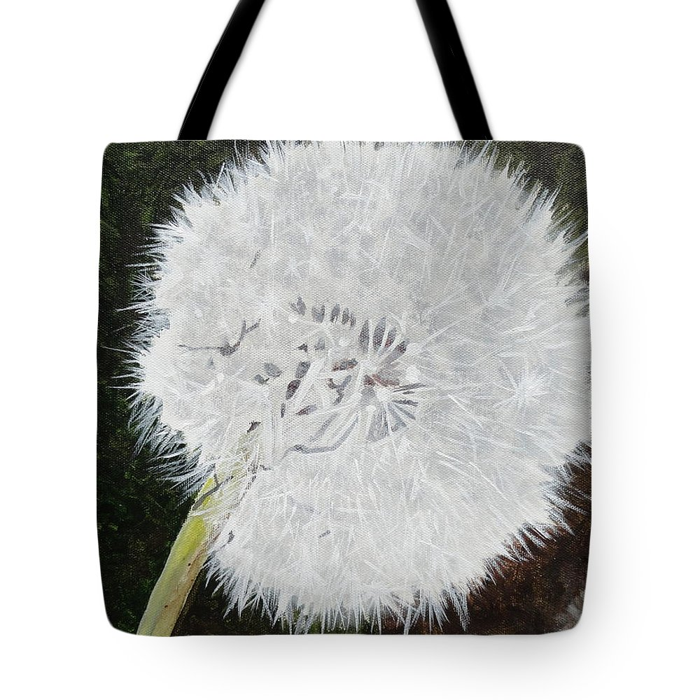 Weed Tote Bag featuring the painting Dandelion by Betty-Anne McDonald