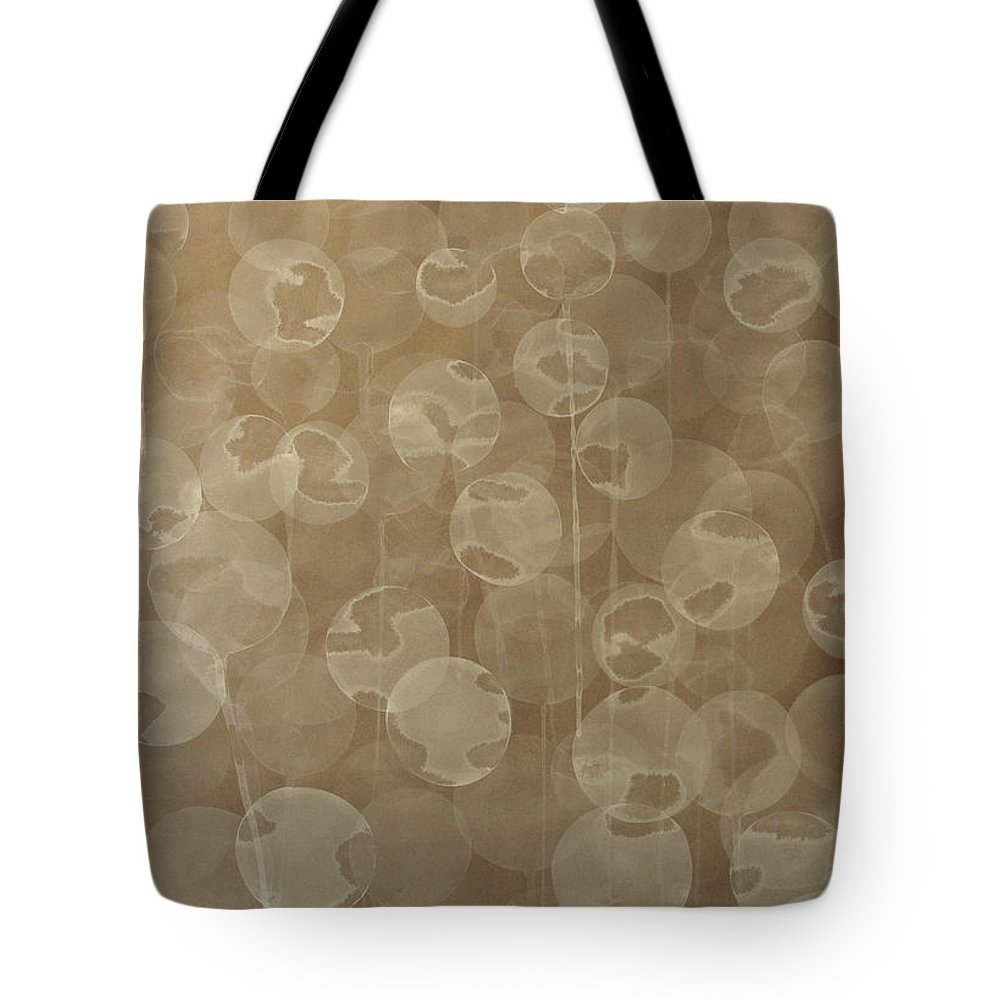 Abstract Tote Bag featuring the painting Dandelion by Jitka Anlaufova