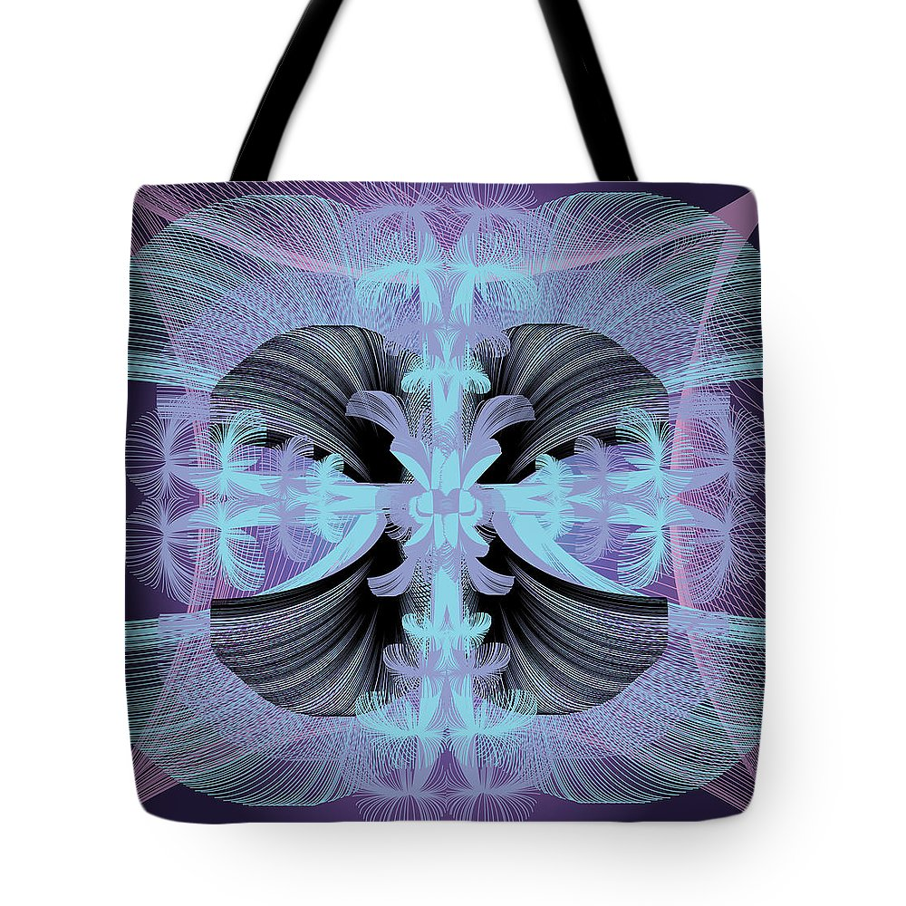 Fantasy Tote Bag featuring the digital art Dandilion Puffs by George Pasini