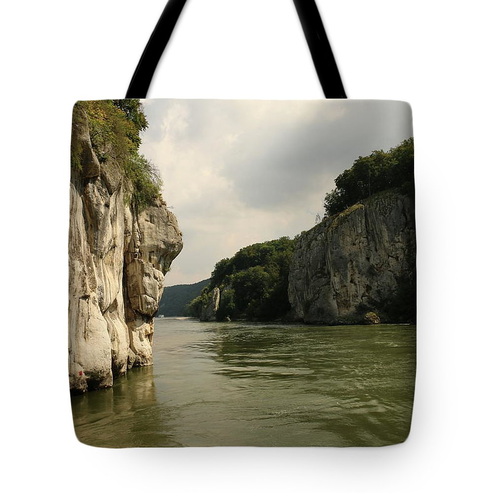 River Tote Bag featuring the photograph Danebu Gorge by Christiane Schulze Art And Photography