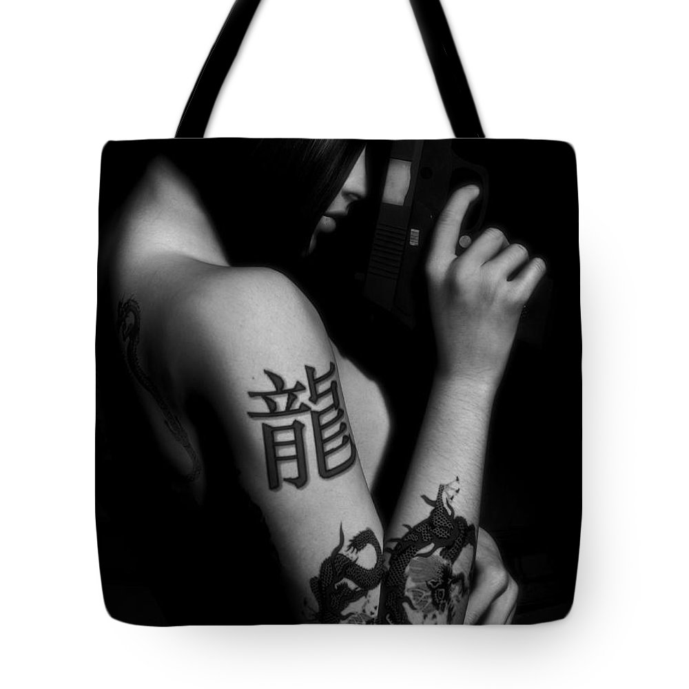 Sexy Tote Bag featuring the digital art Dangerous Beauty by Alexander Butler