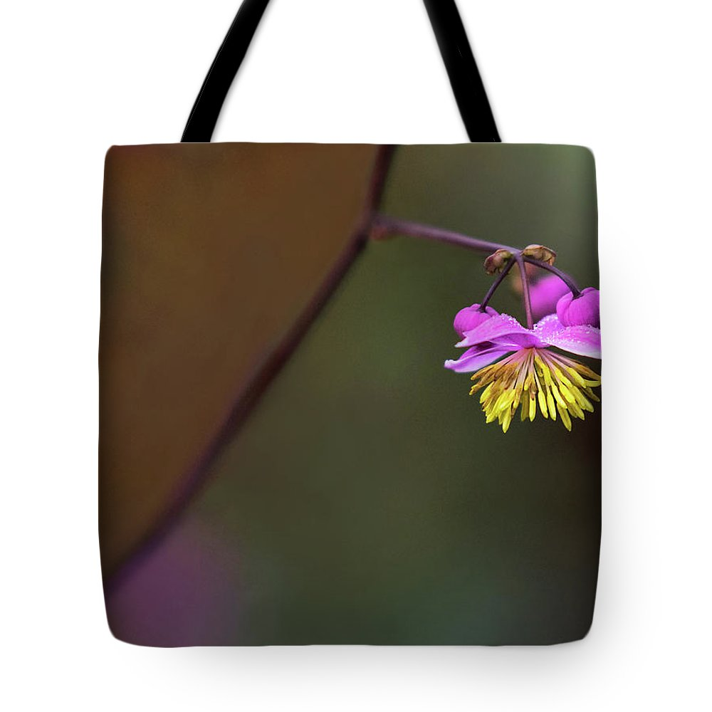 Flower Tote Bag featuring the photograph Dangle by Art Cole