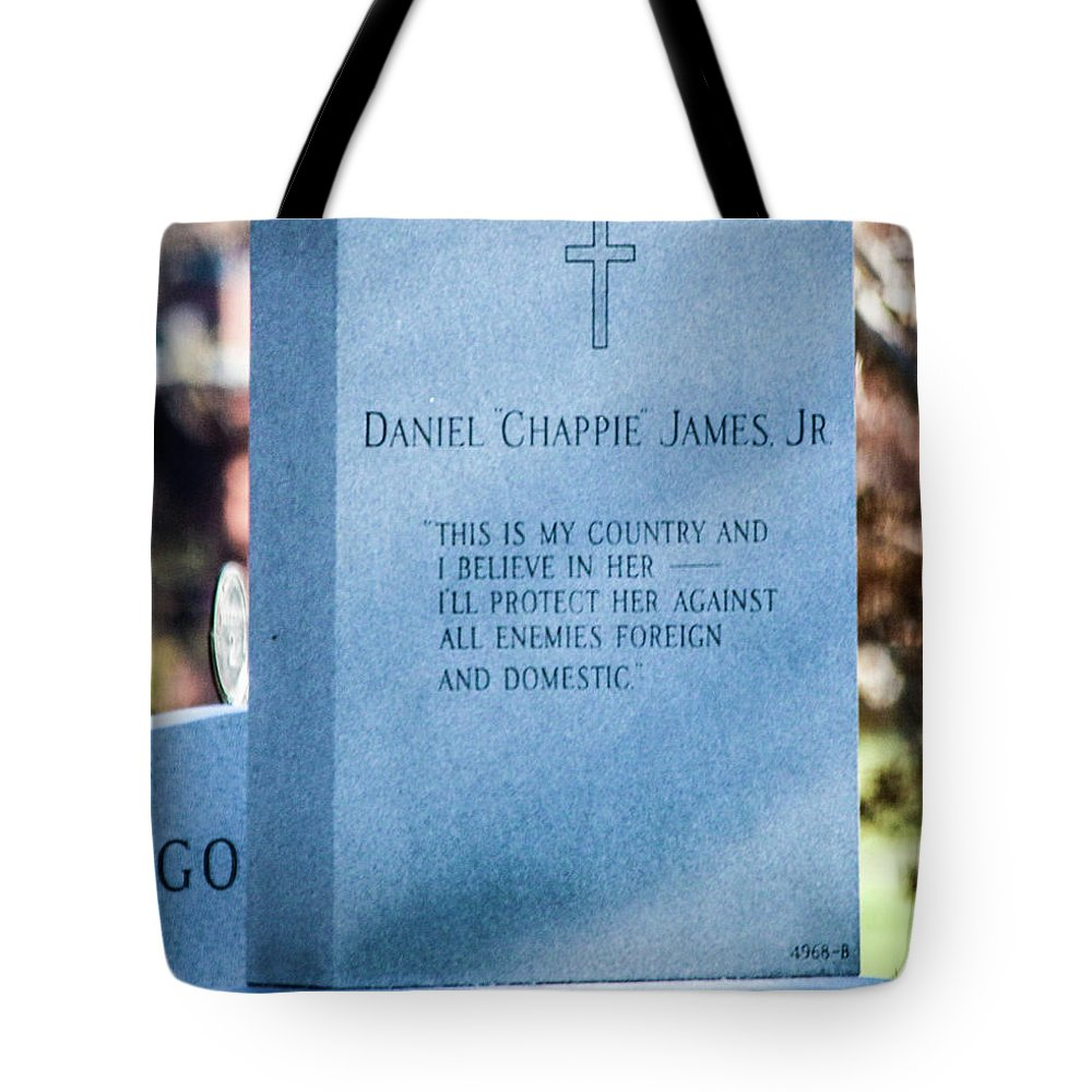 This Is A Photo Of Daniel Chappie James Jr. Tote Bag featuring the photograph Daniel Chappie James Jr by William Rogers