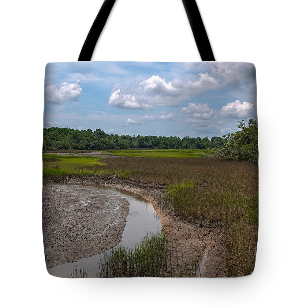 Daniel Island Tote Bag featuring the photograph Daniel Island Paradise by Dale Powell