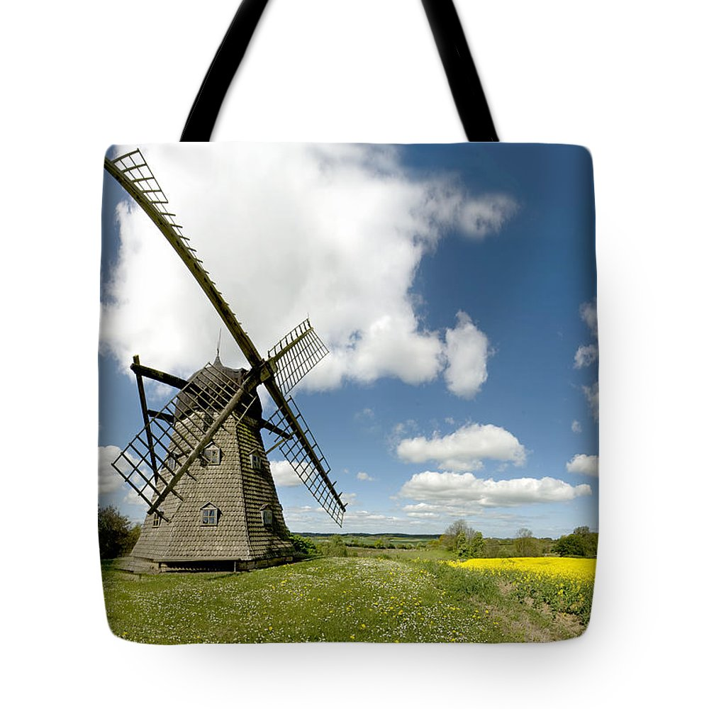 Windmill Tote Bag featuring the photograph Danish Windmill by Robert Lacy