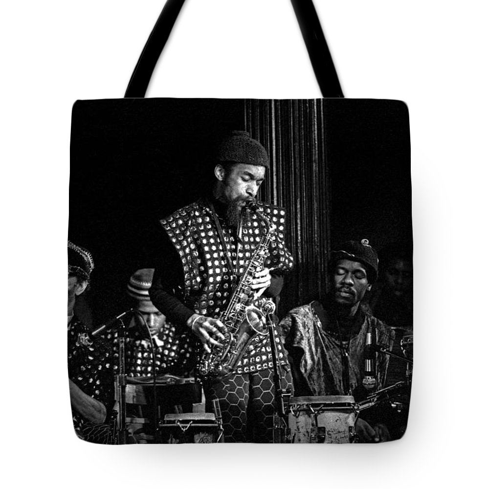 Jazz Tote Bag featuring the photograph Danny Davis With Sun Ra Arkestra by Lee Santa