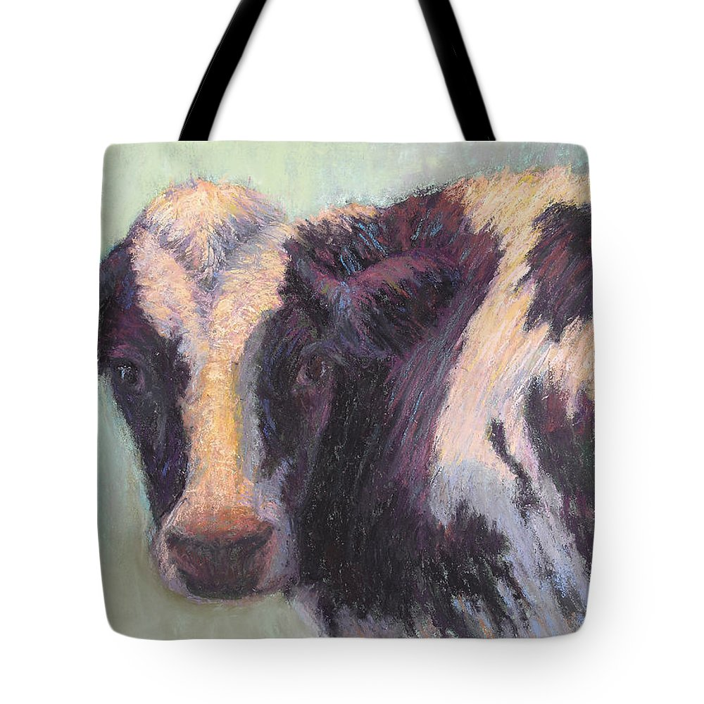 Cows Tote Bag featuring the painting Daphney by Susan Williamson
