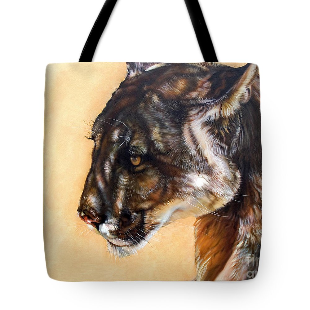 Catamount Tote Bag featuring the painting Dappled by J W Baker