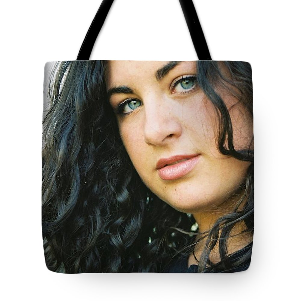 Blue Eyes Tote Bag featuring the photograph Dark Beauty by Nadine Rippelmeyer