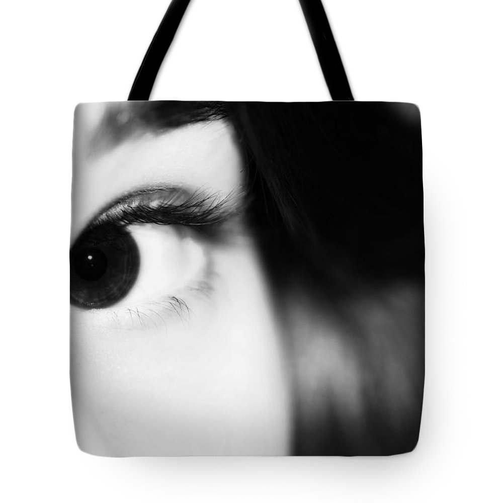 Angel Tote Bag featuring the photograph Dark Eyed Angel by Lisa Knechtel