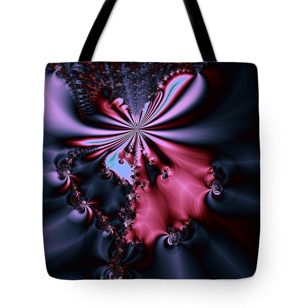 Digital Art Tote Bag featuring the digital art Dark Orchid by Amanda Moore