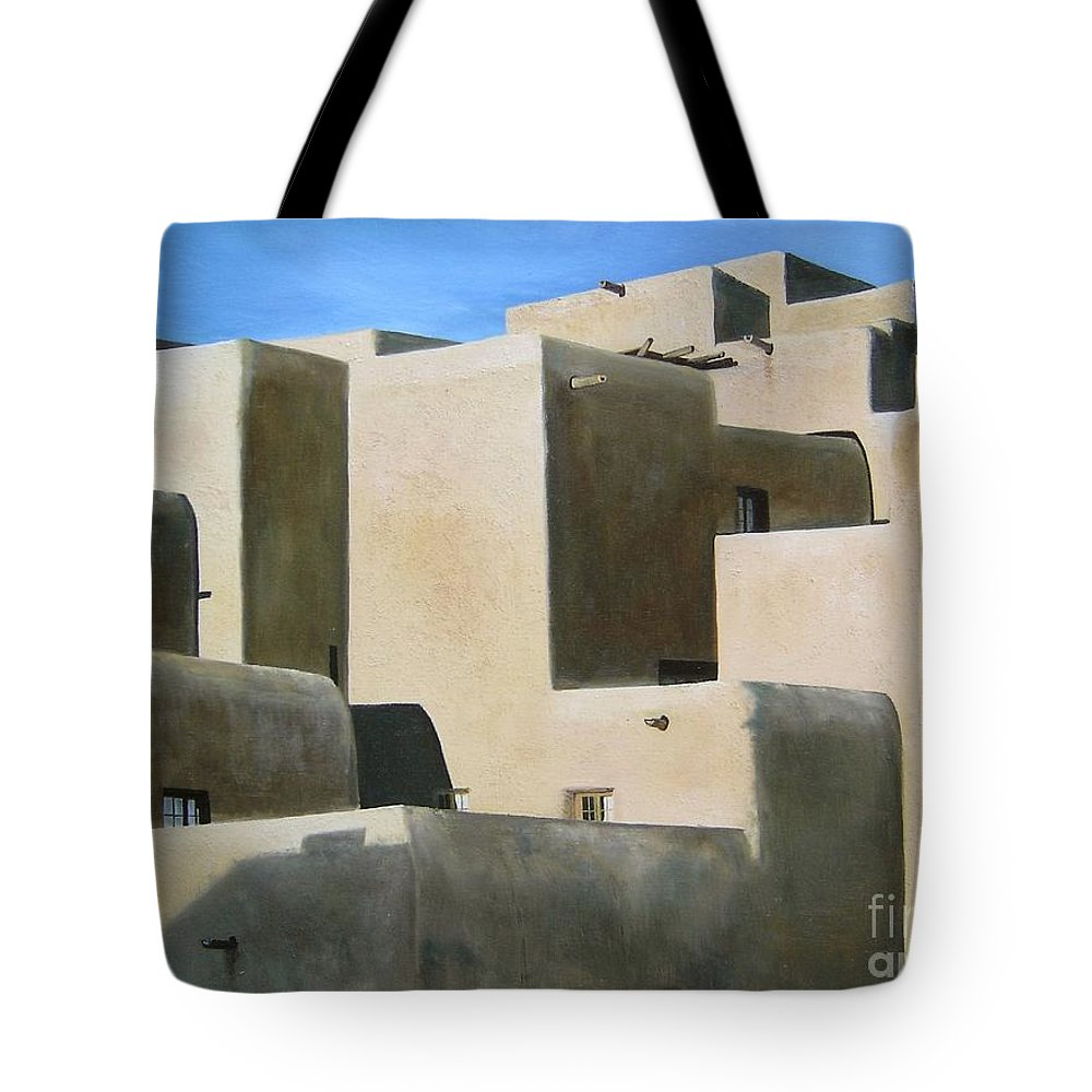 Art Tote Bag featuring the painting Dark Shadows by Mary Rogers