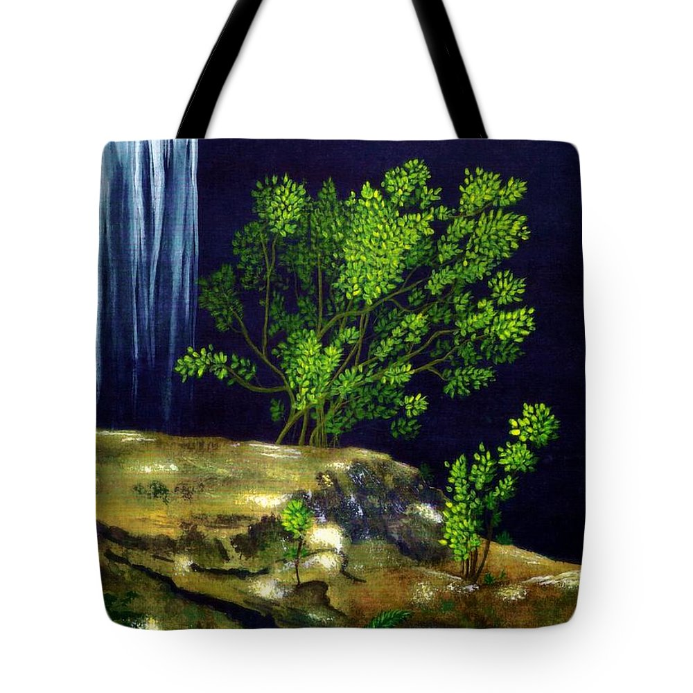 Fine Art Tote Bag featuring the painting Dark Waters by Patricia Griffin Brett