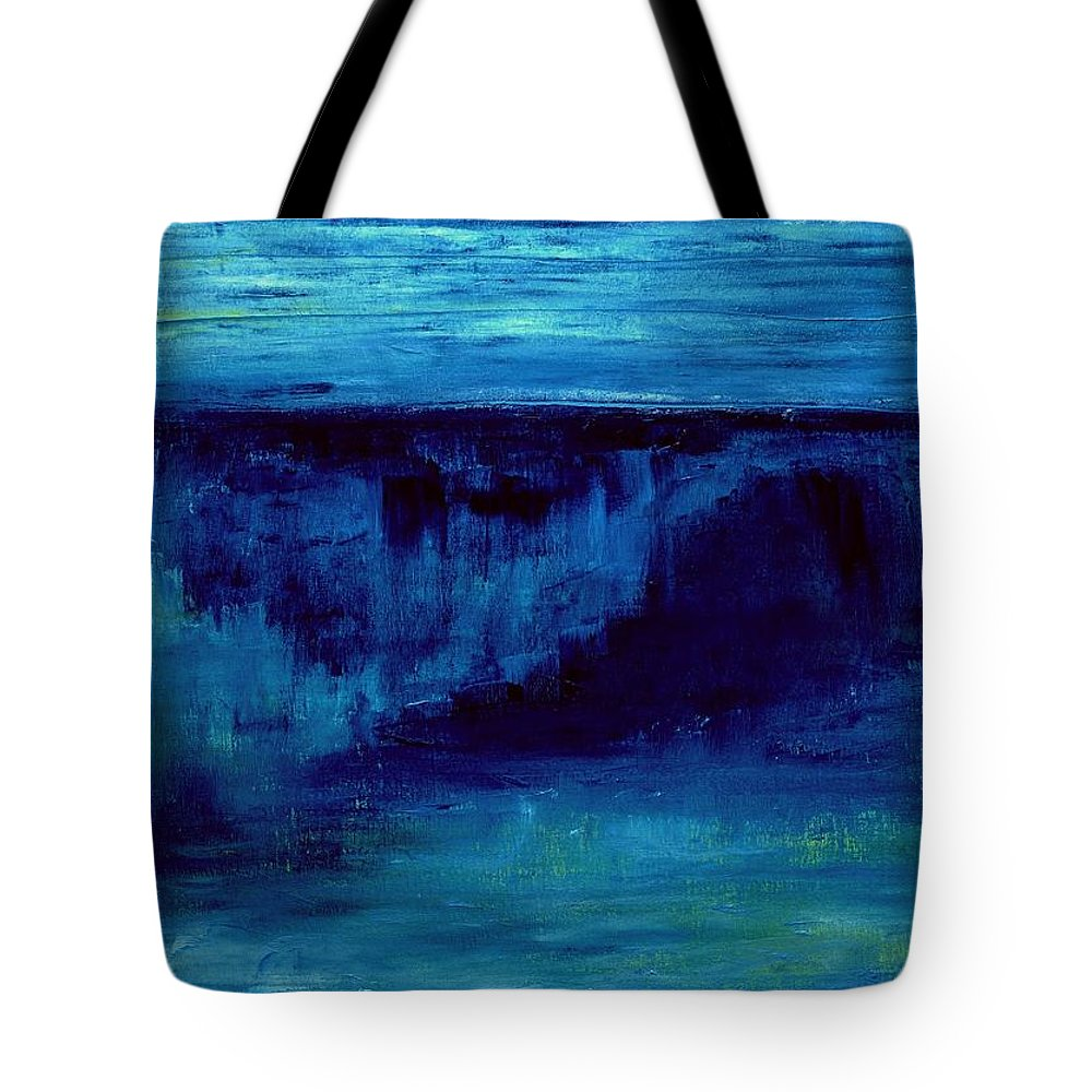 Painting Tote Bag featuring the painting Dark Wave by Dimitra Papageorgiou